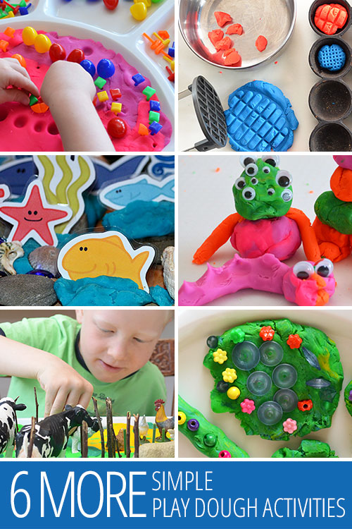 Six More Simple Play Dough Activities - easy to set up and fun to play