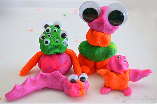 Six More Simple Play Dough Activities - play dough and googly eyes