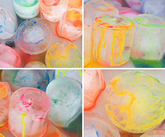 Painting on Ice - a fun way to stay cool!
