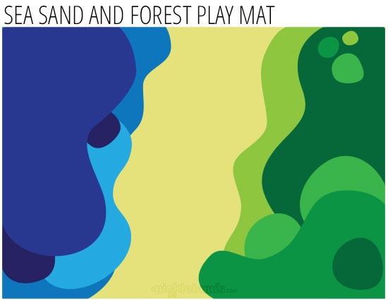 free printable imaginative play mat - Sea Sand and Forest