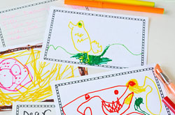 20+ Drawing Ideas and Activities - draw your own postcard