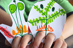 20+ Drawing Ideas and Activities - finger leg puppets