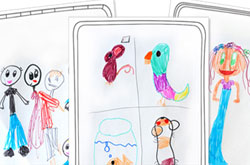 20+ Drawing Ideas and Activities - drawing frames