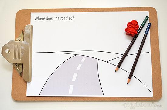 Road Trip Drawing Prompts - Free Printables. - Picklebums