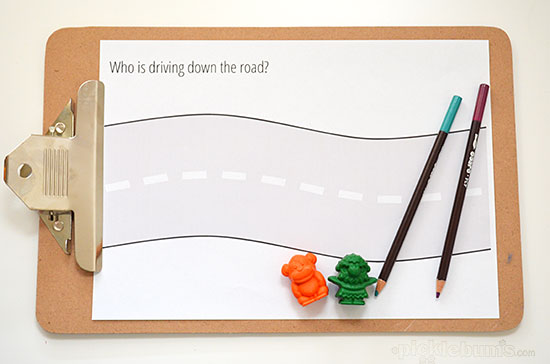 Road Trip Drawing Prompts - free printables to keep the kids buys in the car