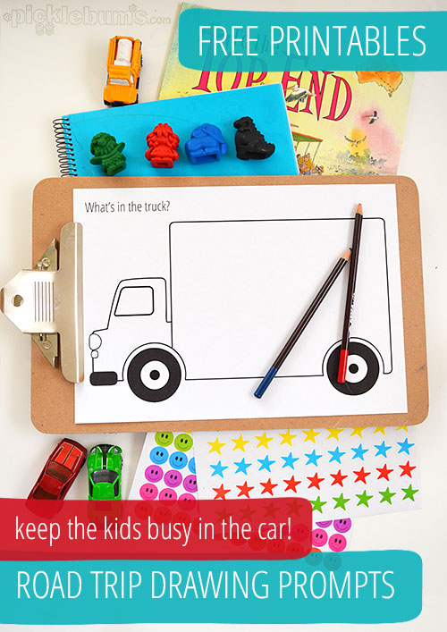 Road Trip Drawing Prompts Free Printables Picklebums