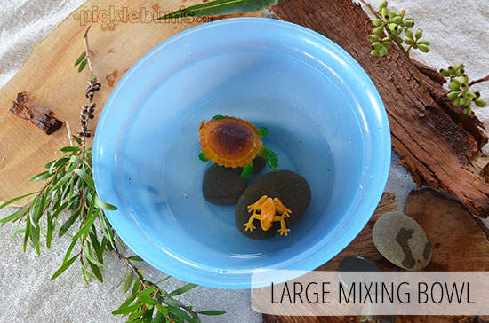 Five Easy Alternatives to a Water Table - A plastic bowl
