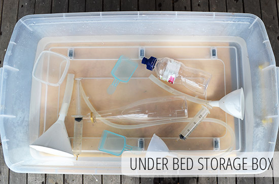 Five Easy Alternatives to a Water Table - Under bed Storage Box