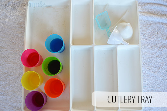 Five Easy Alternatives to a Water Table - A Cutlery Tray