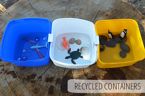 Five Easy Alternatives to a Water Table - Recycled Containers