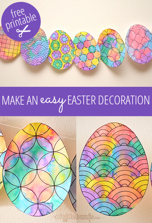 image relating to Printable Easter Decorations titled Create an Simple Easter Decoration. - Pickles
