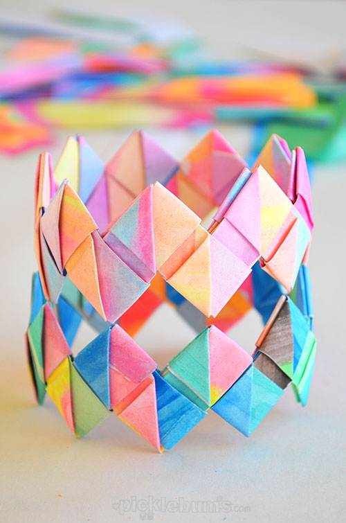 How to Make Folded Paper Bracelets - Picklebums