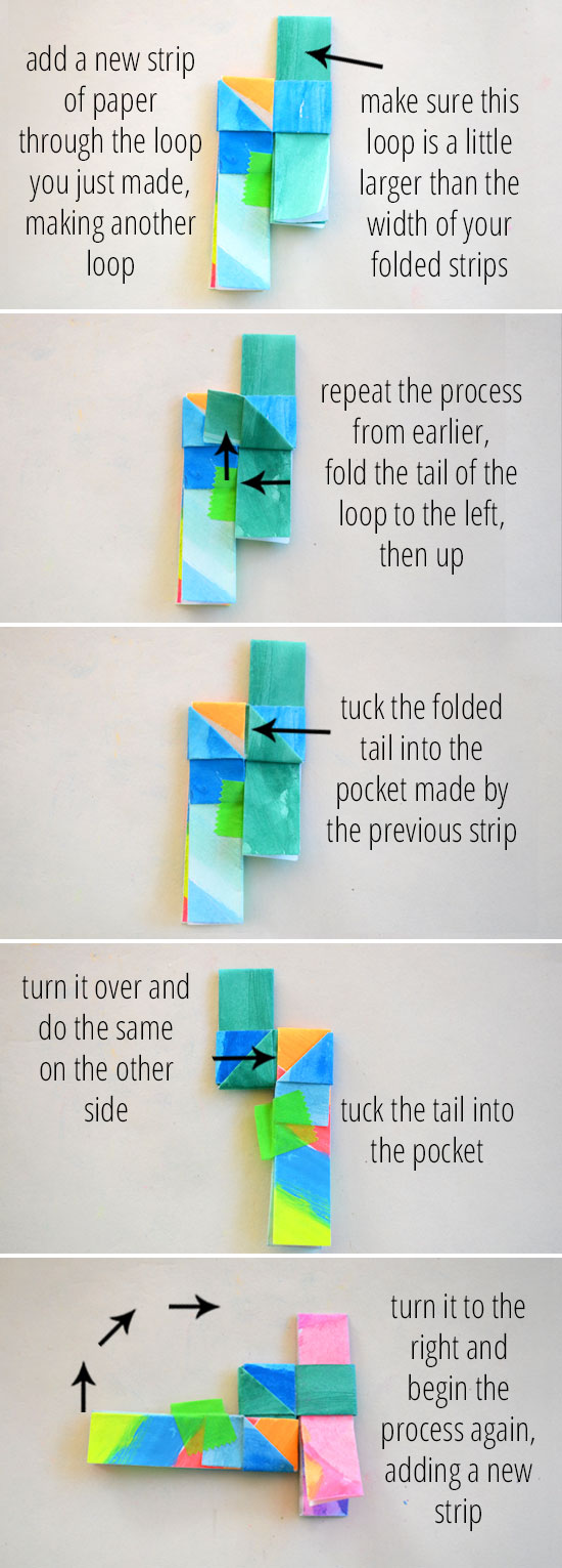 How to make this lovely folded paper bracelet.