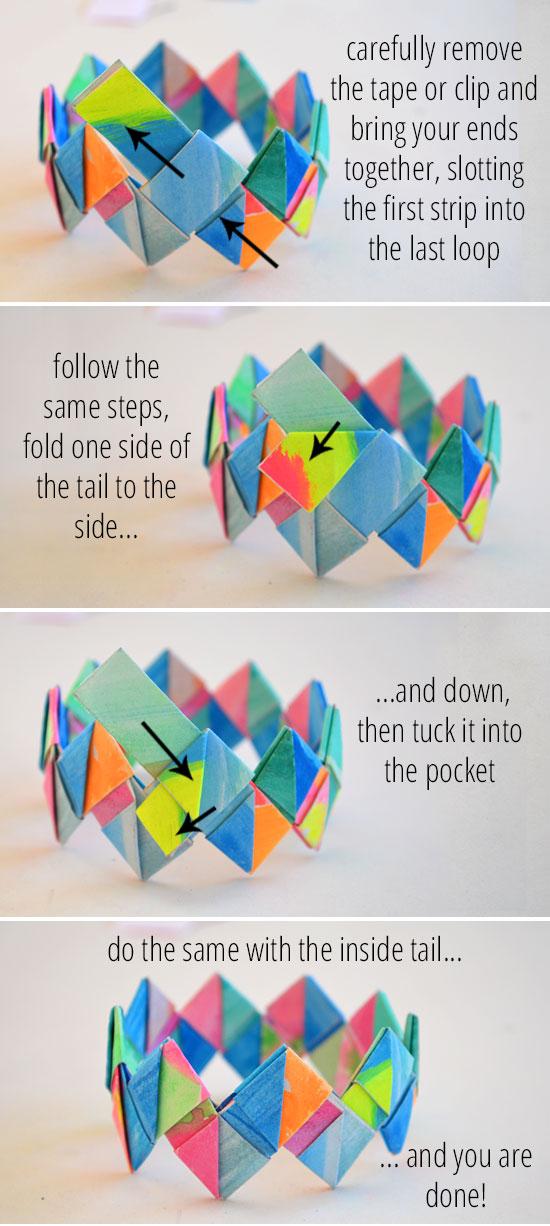 How To Make Folded Paper Bracelets Picklebums