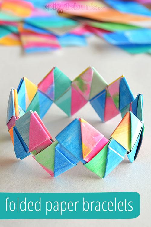How To Make Folded Paper Bracelets Picklebums