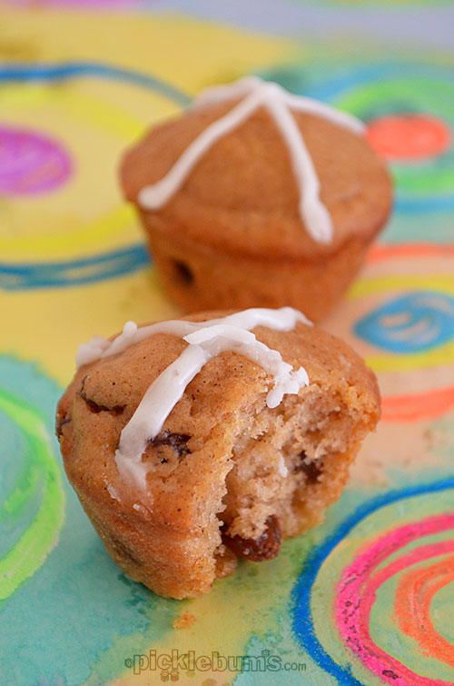 Hot Cross Muffins - a quick and easy Eastery treat.