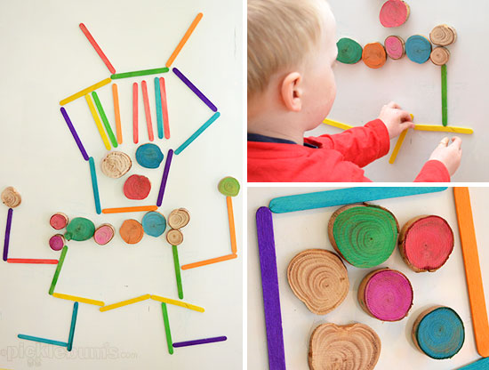 Magnet Madness! - 3 DIY ways to play with a magnet board. Homemade wooden magnets