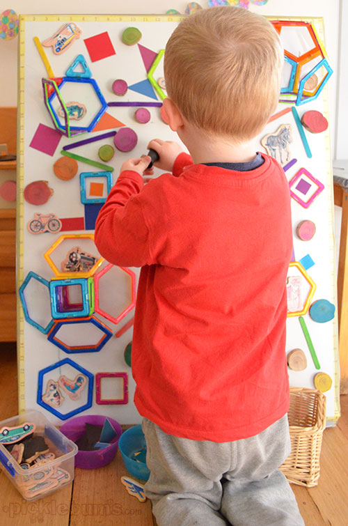 Magnet Madness! - 3 DIY ways to play with a magnet board