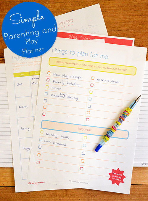 Simple Parenting and Play Planner - find out more and win a copy