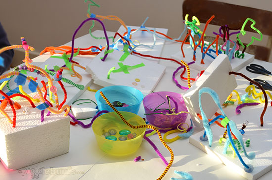 3d Foam And Pipe Cleaner Sculptures Picklebums