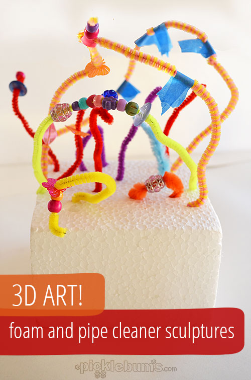 3D Foam and Pipe Cleaner Sculptures