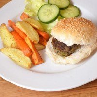 Family friendly and freezer friendly beef and spinach burgers.