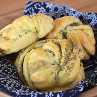 Twisty Herb Bread Rolls