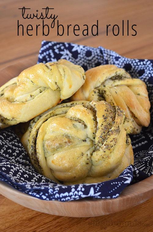 Twisty Herb Bread Rolls
