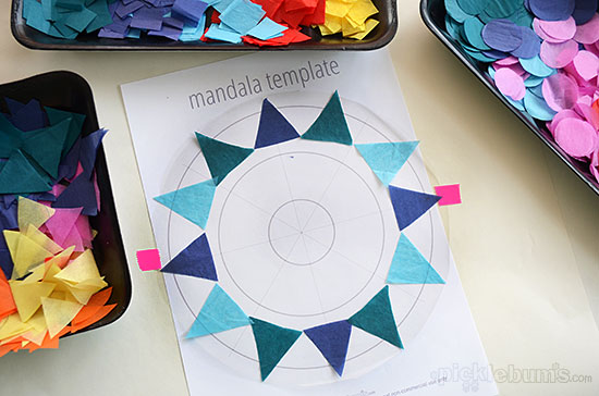 Easy Contact Paper Mandalas