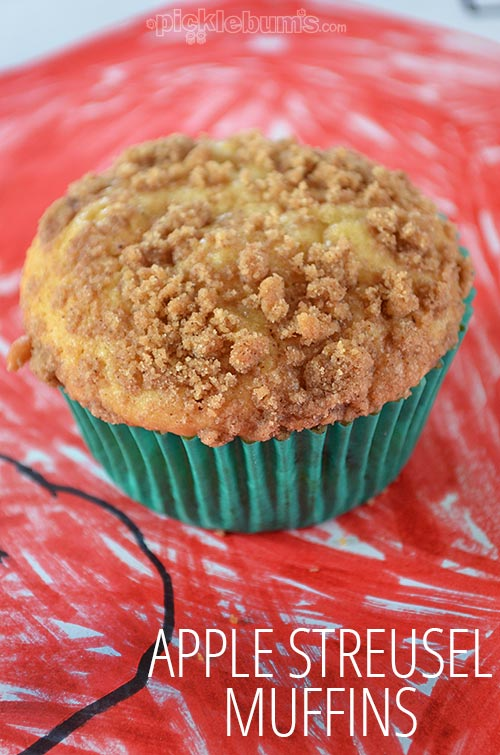 Apple Streusel Muffins - made from a homemade muffin mix