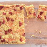 Apple and Rhubarb Slice - super easy recipe.