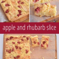 Apple and Rhubarb Slice