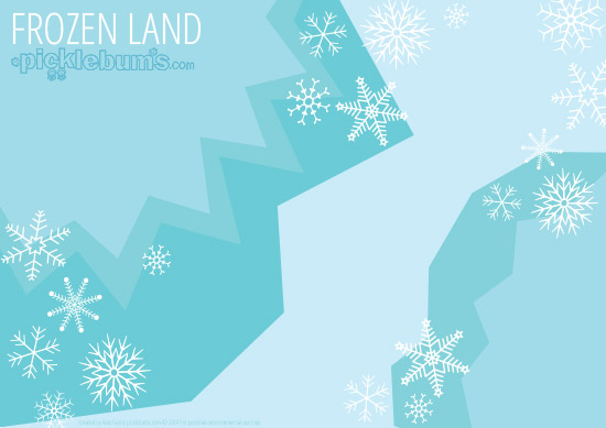 Free Printable Imaginative Play Mats - Frozen Land