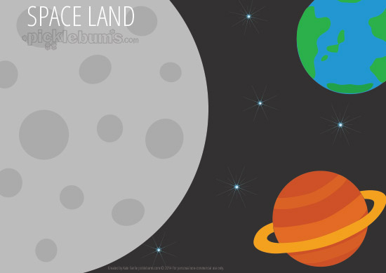 Free Printable Imaginative Play Mats - Space Land!