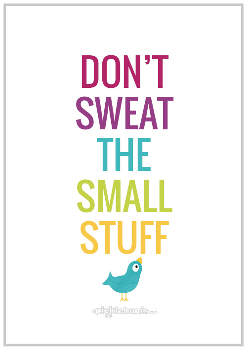Don T Sweat The Small Stuff Quotes Don't Sweat The Small Stuff   Picklebums Don T Sweat The Small Stuff Quotes