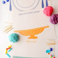 Fun Food Play Dough Mats
