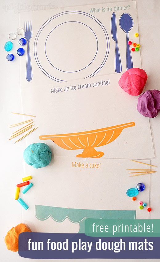 Dynamic image for free printable playdough mats