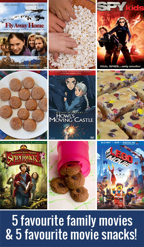 5 Favourite Family Movies and Five Favourite Movie Snacks!