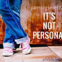Can I let you in on a little secret about parenting that I figured out recently - it's not personal.