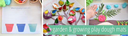 free printable play dough mats - gardening and growing