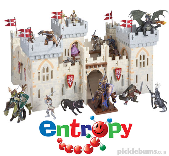 Papo Castle, Castle base board and Papo figurines from Entropy