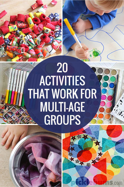 20 activities for multi age groups picklebums for Fun crafts for all ages