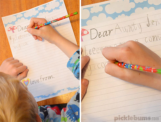 free printable kids letter writing set picklebums