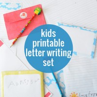 Free Printable Kids Letter Writing Set