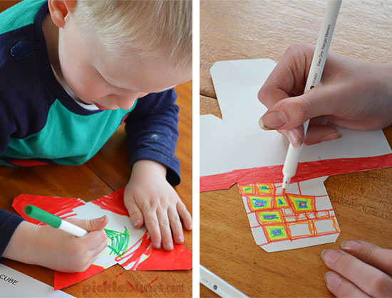 3D Drawings - a quick and easy art activity