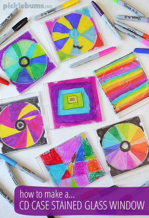 Make a CD case stained glass window!