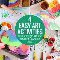 4 Easy Art Activities we did last week - because doing art with your kids doesn't have to be difficult!
