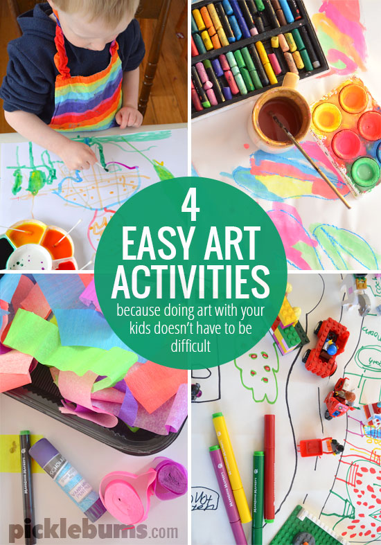 Four Easy Art Activities For Kids Picklebums