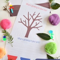 Gardening and Growing Play Dough Mats – Free Printable!
