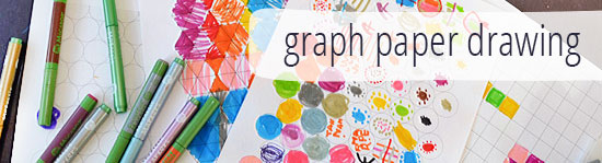graph paper drawing - a simple activity that combines art and maths